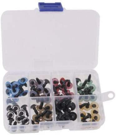 Fghuim 150 Pcs Plastic Safety Eyes with Washers for Doll Making 6-12mm
