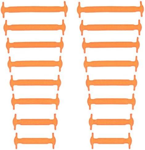 結ばない靴紐 シリコン素材 男女兼用 高い伸縮性 簡単に着脱が出来る! オレンジ AP-TH218-OR