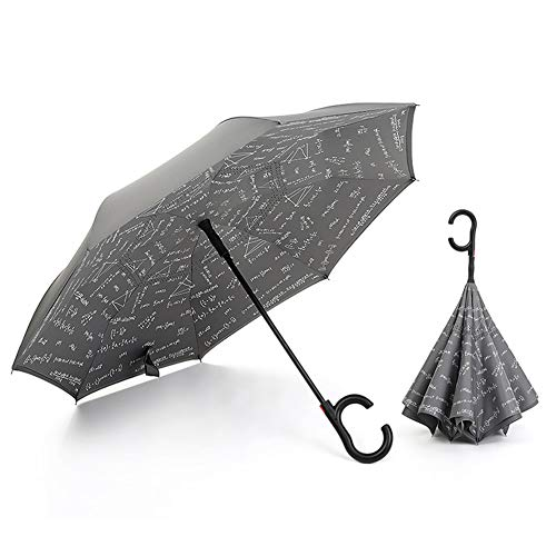 KDYS Umbrella Reverse Umbrella Double Layer, Fold Ing Long Umbrella Automatic Manually Stainless Steel-dark Gray A (Best California Umbrella Cnas)