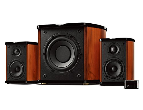 Swan Speakers - M50W - Powered 2.1 Bookshelf Speakers - HiFi Music Listening System - Wooden cabinet - Full Range Drivers - 6.5