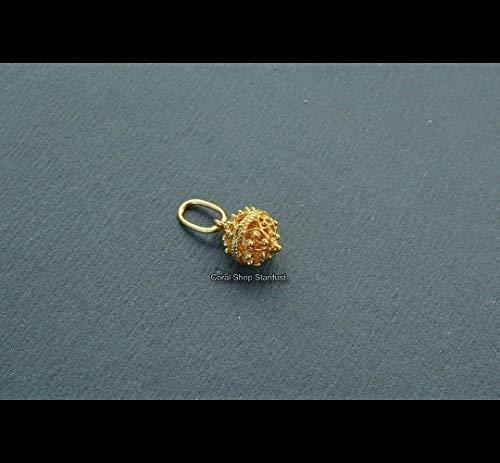 Dainty 14k Gold Pendant, Dubrovnik Filigree Ball Pendant, Gold Filigree Pendant *Exp ()