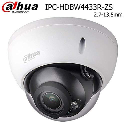 Dahua 4MP Dome POE IP Camera IPC-HDBW4433R-ZS 2.7-13.5mm Motorized Varifocal Lens 5X Optical Zoom, 50m IR Day and Night, SD Slot, Outdoor Security Surveillance Camera H.265 ONVIF