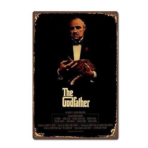 (The Godfather Film Movie Vintage Retro Tin Sign tin Sign 20 30cm/ 7.8 11.8 inch(L W))
