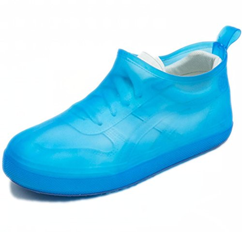 - Waterproof Rain Boot Shoe Cover The Reusable Slip-Resistant Overshoes with Excellent Elasticity and Foldable[blue-3940]