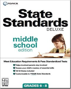 TOPICS Entertainment State Standards Deluxe: Middle School Edition for WIN/MAC for Age - 11 - 14 (Catalog Category: Education / Education )