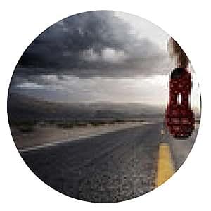 alfombrilla de ratón los deportes de fondo. Pies del corredor vial ejecutan en primer plano en el zapato. - ronda - 20cm