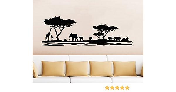 Safari Africa Wall Decal Vinyl Stickers Decals Home Decor Animal Wall Vinyl Decal African Safari Nursery Decor Jungle Bedroom Safari x133