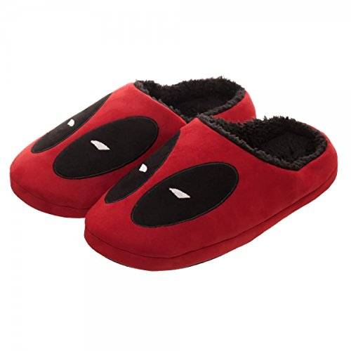 Bioworld Marvel Deadpool Red Scuff Adult Slipper
