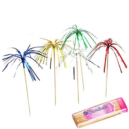 - Comicfs Cocktail Picks Handmade Bamboo Toothpicks 4.7