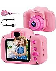PROGRACE Kinderen Camera Kinderen Digitale Camera's voor Meisjes Verjaardag Speelgoed Geschenken 4-12 Jaar Oude Kid Camcorder Camera Peuter Videorecorder 1080P IPS 2 Inch
