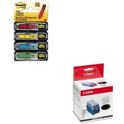 KITCNM0907B001AAMMM684SH - Value Kit - Canon 0907B001 Ink (CNM0907B001AA) and Post-it Arrow Message 1/2amp;quot; Flags (MMM684SH)