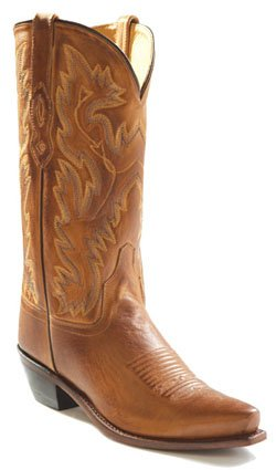 - Old West Tan Canyon Mens All Leather 12in Stitch Snip Toe Cowboy Boots 9.5 D