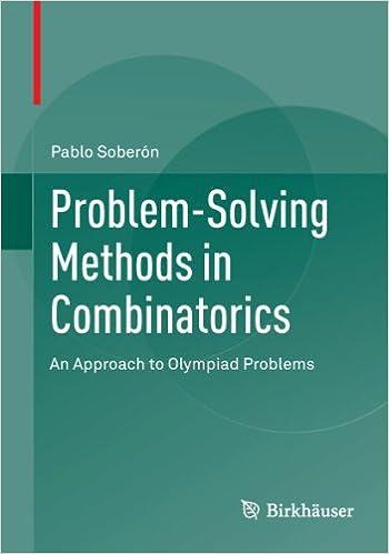 Problem solving methods in combinatorics an approach to olympiad problem solving methods in combinatorics an approach to olympiad problems 2013 pablo sobern amazon fandeluxe Gallery