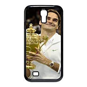 Samsung Galaxy S4 Cases, Roger Federer Trophy Funny Design Cases for Samsung Galaxy S4 {Black}