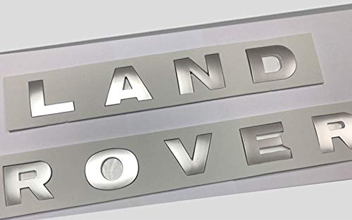 1pcs New Silver 3M Letters Trunk or Hood Tailgate 3D Emblem Badge For Land Rover