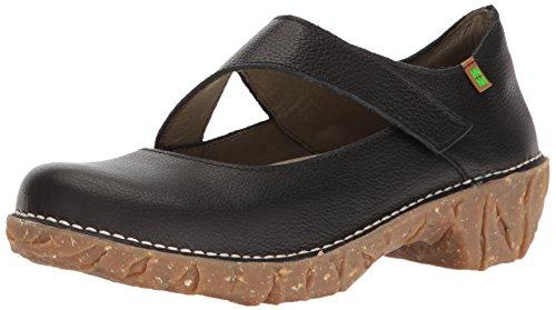 Closed Shoes Naturalista Heeled Soft Toe Yggdrasil El Ng51 Women's Black Grain dPwYzOq7