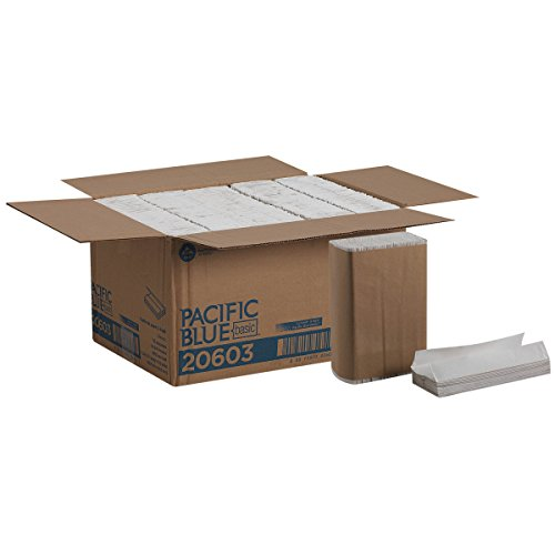 Georgia-Pacific Blue Basic C-Fold Paper Towels (previously branded Acclaim) by GP PRO; White, 20603; 240 towels per pack, 10 packs per case