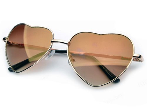 Heart Shaped Aviator Style Celebrity Shades in - Shades In Style