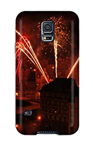 Flexible Tpu Back Case Cover For Galaxy S5 - Fireworks