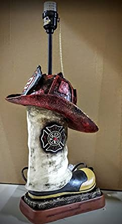 Firefighter Boot And Helmet Lamp Amazon Com
