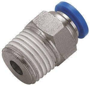 Straight Push in Fitting 12mm x 1/4' Bsp Male Stud (b70) Pneumax
