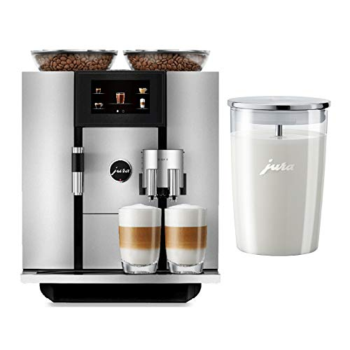 JURA GIGA 6 Automatic Coffee Machine, Silver and Glass Milk Container Bundle (2 Items)