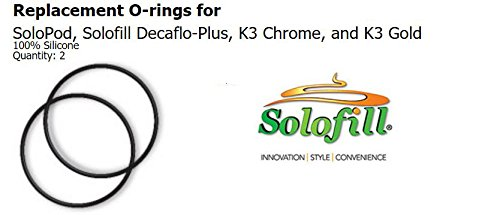 Replacement O-rings for SoloPod, Solofill Decaflo-Plus, K3 Chrome, K3 Gold, K4 Gold, and K4 Chrome 100% Silicone Quantity: 2