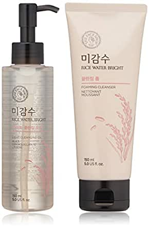 THE FACE SHOP Rice Water Bright Bundle - Cleanser 150ml + Light Cleansing Oil 150ml
