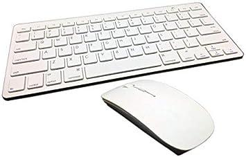 Combo miniteclado y ratón inalámbrico 2,4 gHz color blanco para Apple iMac Macbook y Macbook Pro (no necesariamente español)