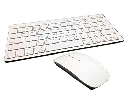ESI Mini Wireless 2.4Ghz White Keyboard and Mouse Combo for Apple iMac MacBook MacBook Pro