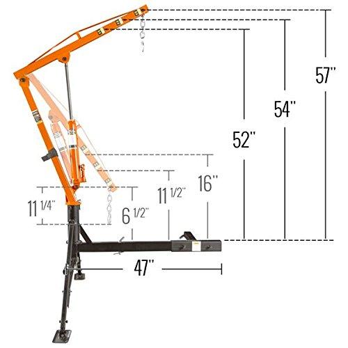 Jib Crane In Uae : Apex hydraulic hitch mount pickup truck lb jib crane