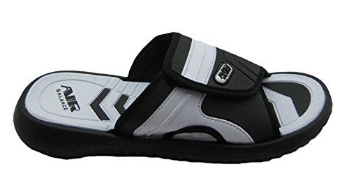Luft Justerbar Stropp Komfortabel Dusj Strand Sandal Tøfler I Stilige Farger For Menn Svart / Hvit