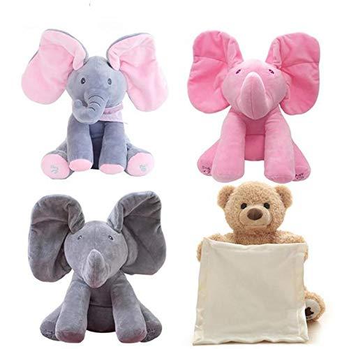 The Peekaboo Elephant Interactive Plush Toy Sings /& Plays Peek-A-Boo Best Gift