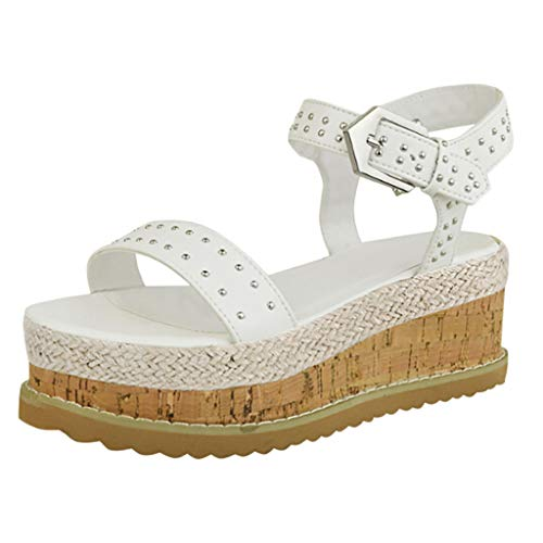 XEDUO Flip Flop Sandals Women 2019 Fashion, Women's Slippers Rubber Sole Flatform Beach Shoes Belt Buckle Open Toe Sandals