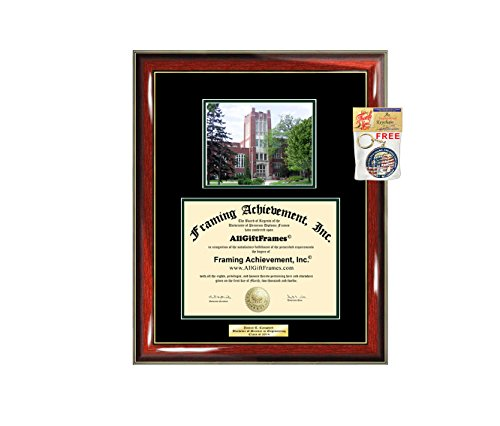 Diploma Frame University of North Dakota UND Graduation Gift Idea Engraved Picture Frames Engraving Degree Graduate Bachelor Masters MBA PHD Doctorate School