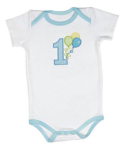 3edb052f2cd1 Bearington Baby His First Birthday Onesie, Boy's First Birthday Outfit (12  Months)