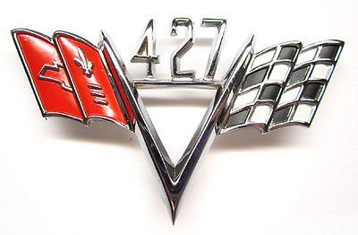 ersal Chevrolet 427 Cross Flag Emblem ()