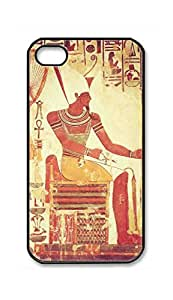 Custom iPhone 4 4S 4G Case , Wall Painting Of Ancient Egypt Painting Hard Plastic Protective Cases Cover by Foreverway --606