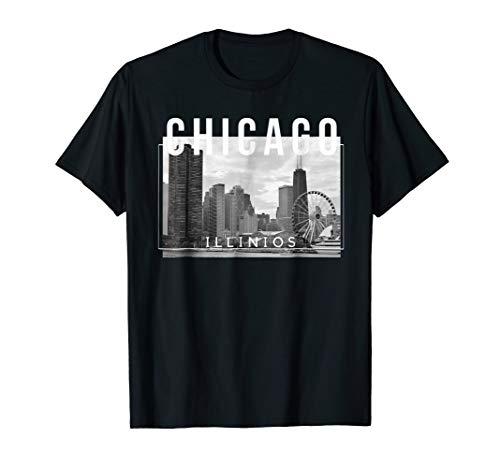 Chicago Illinois Skyline Navy Pier Wheel - Tee