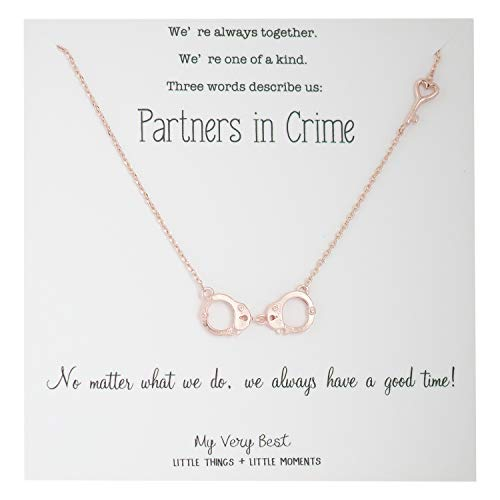 My Very Best Partners in Crime Handcuff BFF