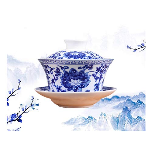 Jingdezhen Lotus Design Chinese Gaiwan Traditional Chinese T