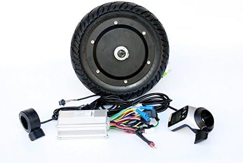 Kit de conversión de scooter eléctrico de 350 vatios Acelerador de pulgar del panel LCD con freno de pulgar EBS Kit de motor de eje sin escobillas de 8