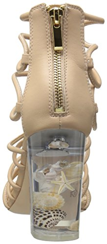 Katy Perry Women's The Janelle Heeled Sandal, Nude, US Nude