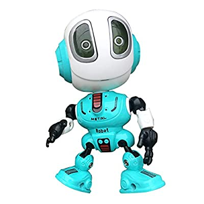 TTOUADY Talking Robots for Kids, Mini Robot Toys That Repeats What You Say, Interactive Toys with Colorful Flashing Lights to Help Kids Talking, Boys and Girls Gift