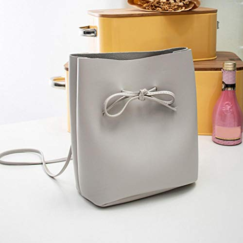 Handbags Women Casual Bags Bowknot Bag Shoulder PU Gift Crossbody Fashion Domybest Grey Ox5wq0X