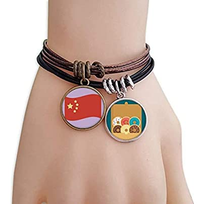 littleprincess China Flag Five Stars Bracelet Rope Doughnut Wristband Estimated Price -