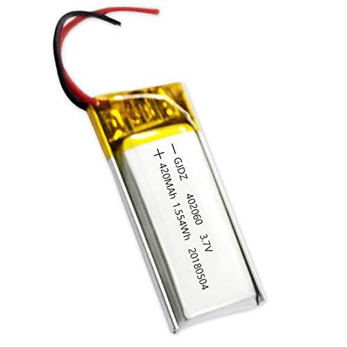 420mAh 3.7V 402060 Lithium Polymer Li-Po li ion Rechargeable Battery Cells for Mp3 MP4 MP5 Headset Speaker Navigator