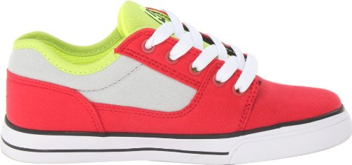 DC Shoes Bristol Canvas B Shoe Rgy - Zapatillas de Deporte niño Rojo - Rouge (Red/Grey)