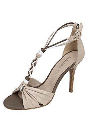 Stiletto sandalia de tacón alto de piel de Best Connections Marron - Taupe