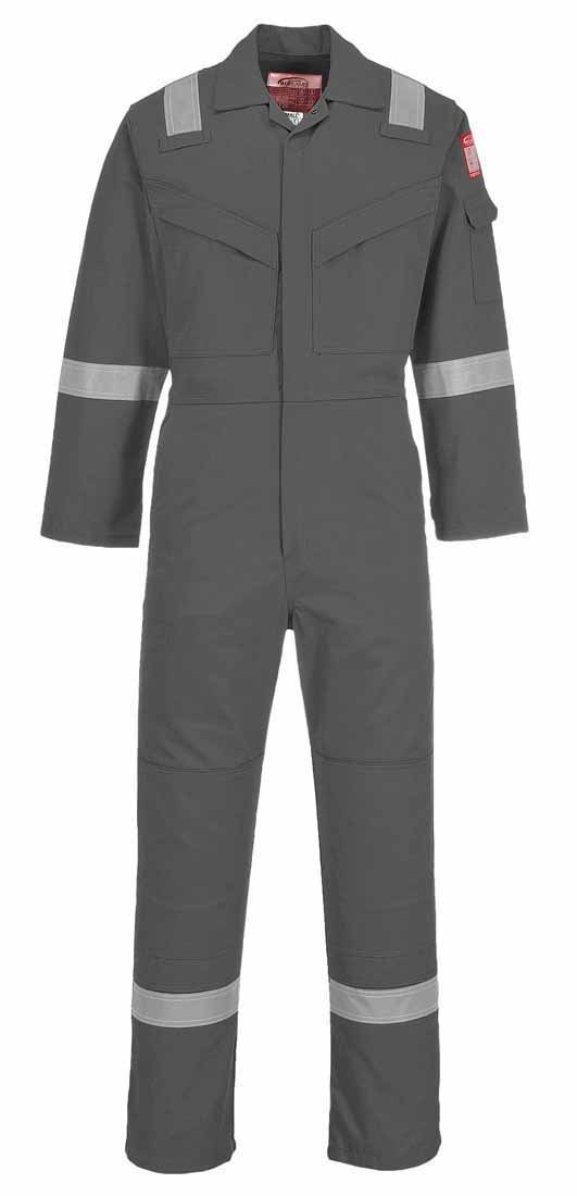 Portwest FR21BKRXXL FR Super Light Weight Anti-Static Coverall 210g, 2X-Large, Black